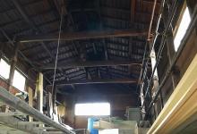 タバコ農家に多い高い天井の納屋です